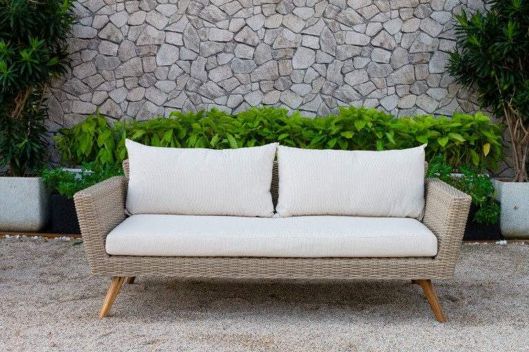 canary synthetic rattan outdoor furniture single sofa