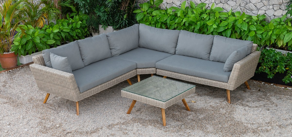 canary rattan patio furniture garden sofa set