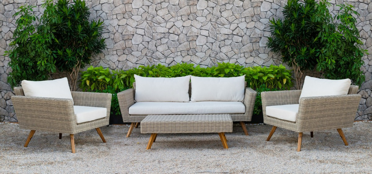 canary wicker patio furniture rattan sofa set
