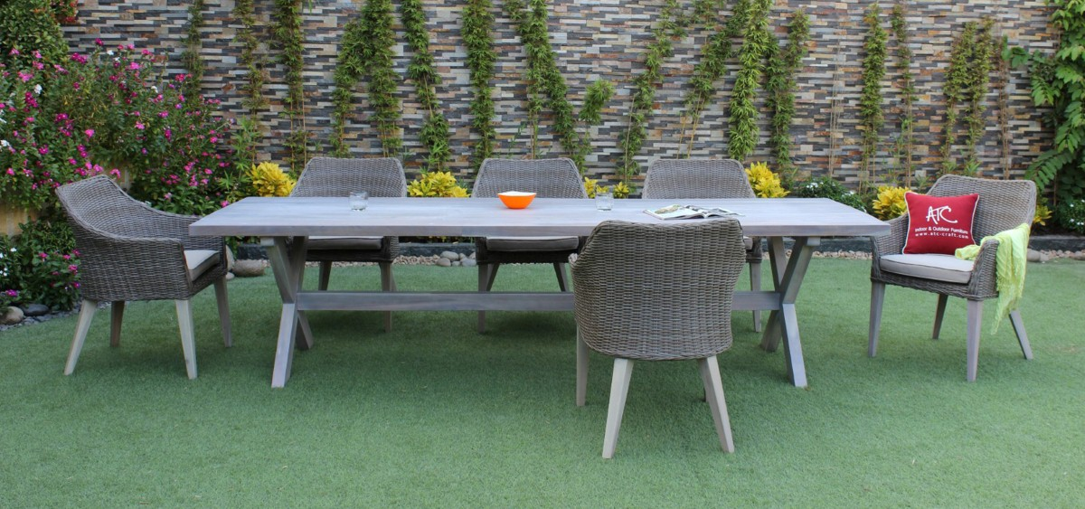 canary rattan outdoor furniture dining set