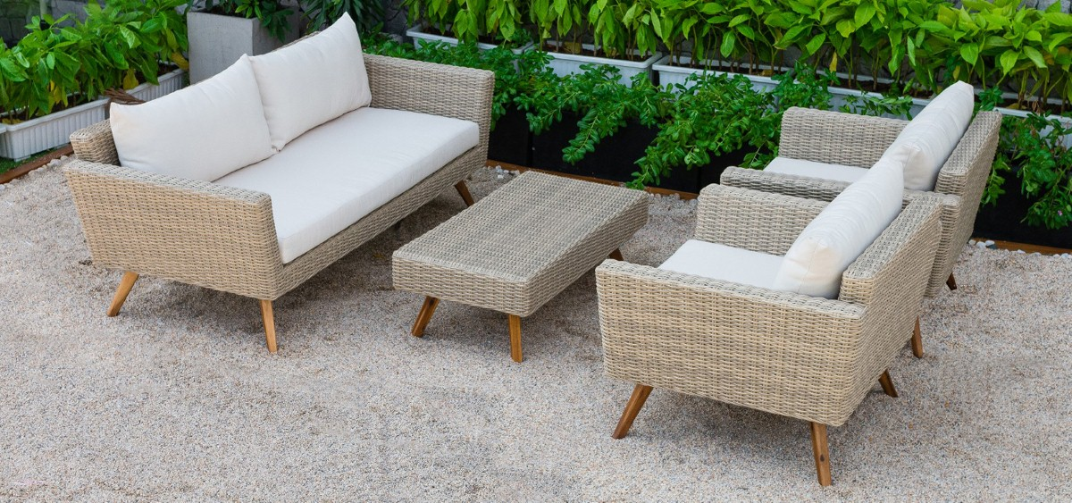 canary rattan garden furniture wicker sofa set