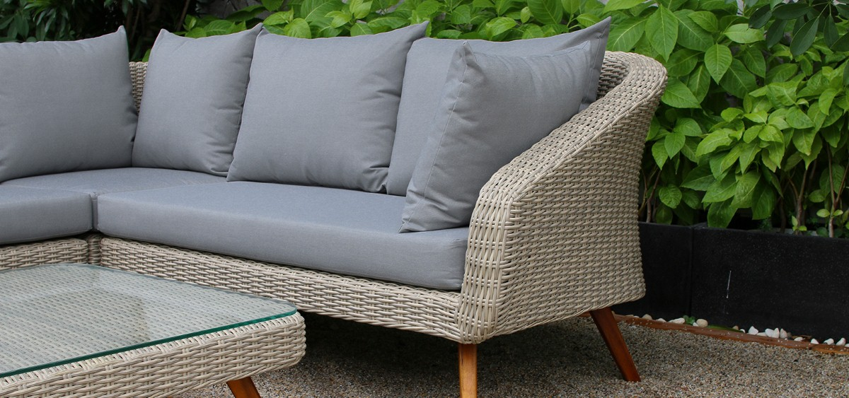 canary rattan outdoor furniture wicker sofa set