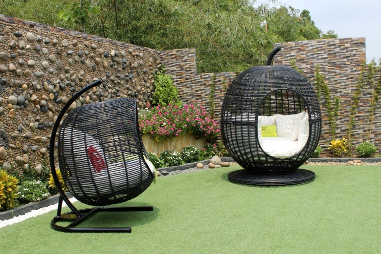 eagle rattan furniture egg hammock hanging chair and sun lounger chair