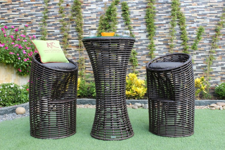 eagle wicker furniture pe rattan bar set furniture