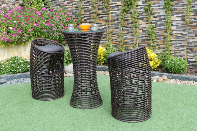 eagle wicker furniture poly rattan bar set furniture