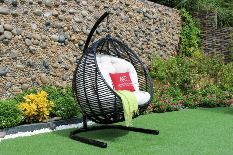 eagle outdoor furniture poly wicker egg hammock hanging chair