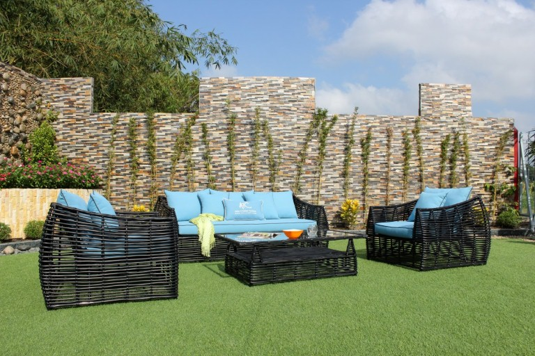 eagle garden furniture poly wicker sofa set