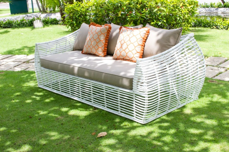eagle garden furniture poly wicker single sofa