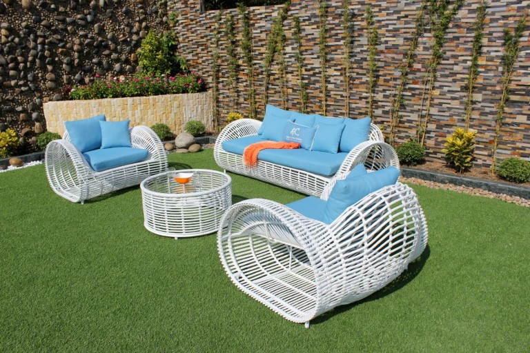 eagle outdoor furniture poly wicker sofa set