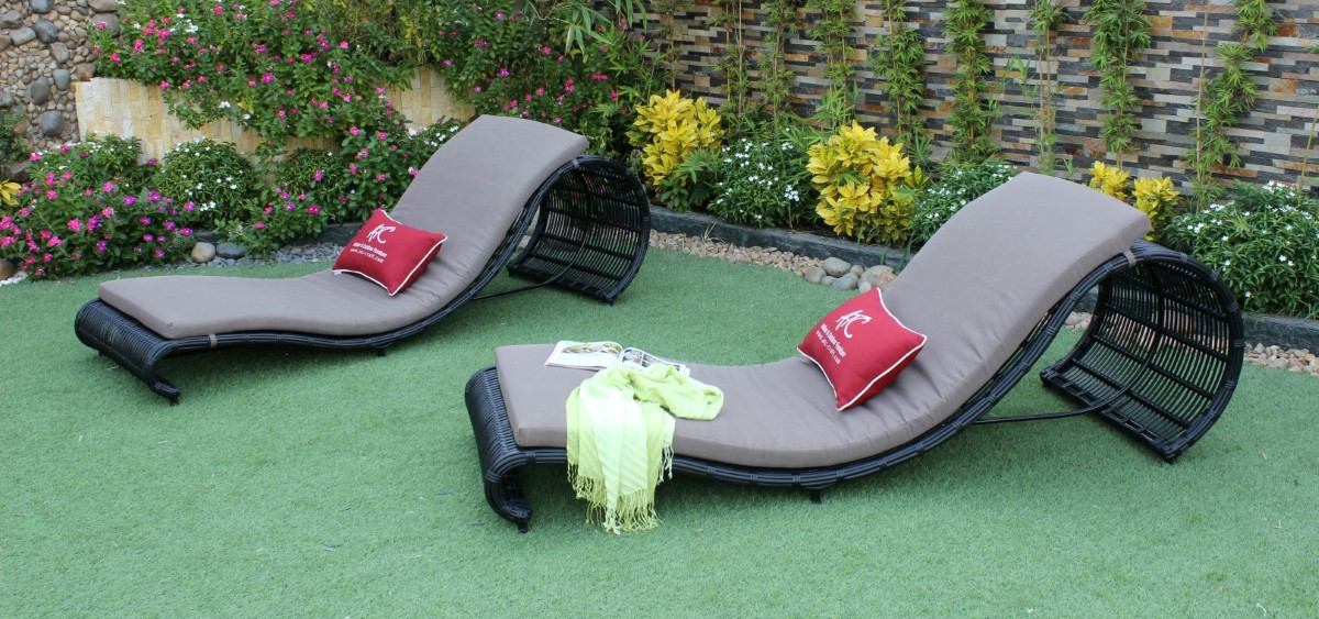 eagle outdoor furniture poly wicker sun lounger chair