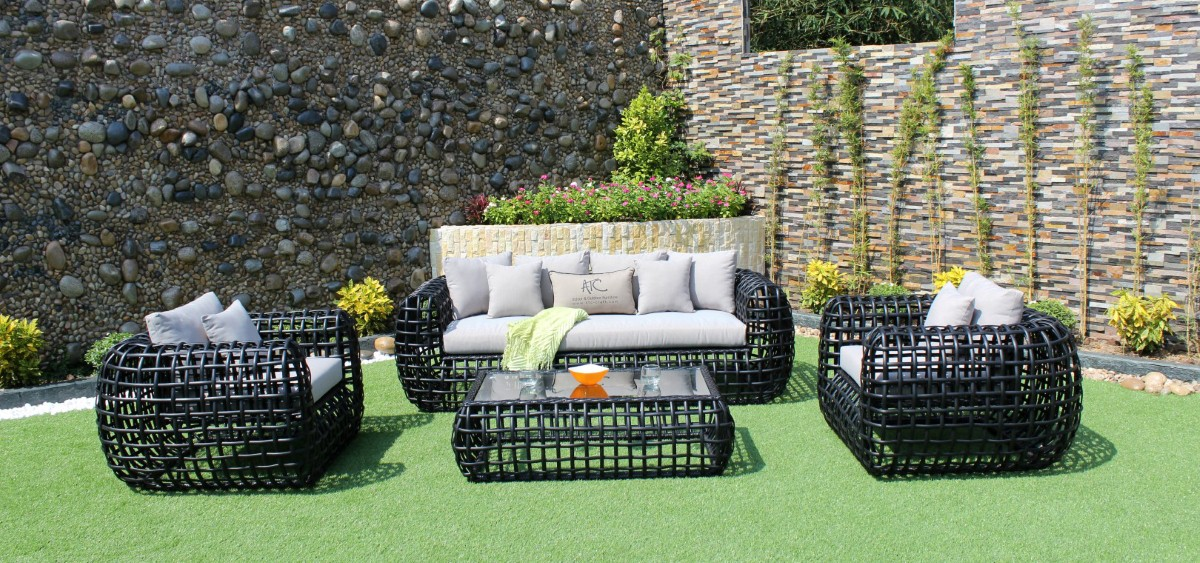 eagle patio furniture pe rattan sofa set