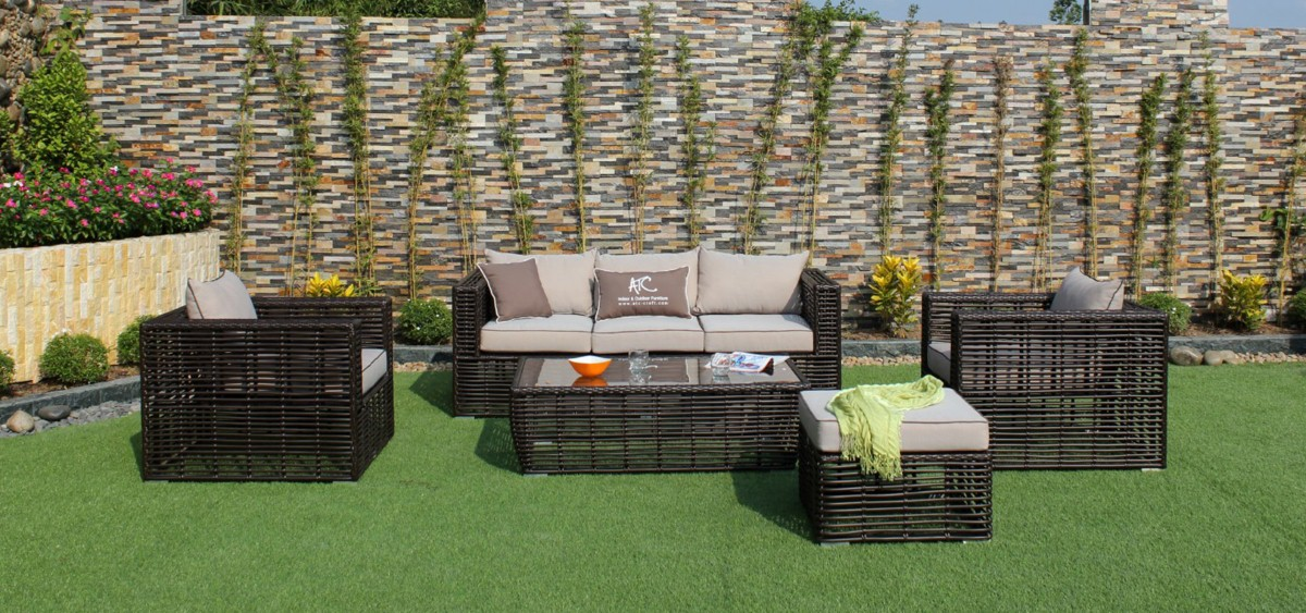 eagle patio furniture pe wicker sofa set