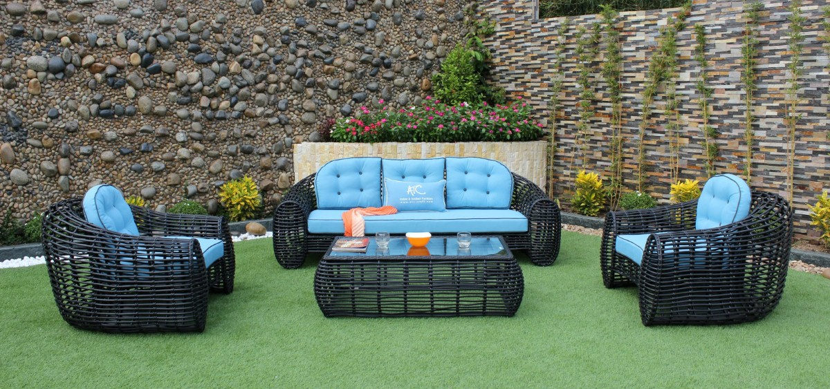 eagle garden furniture poly rattan sofa set