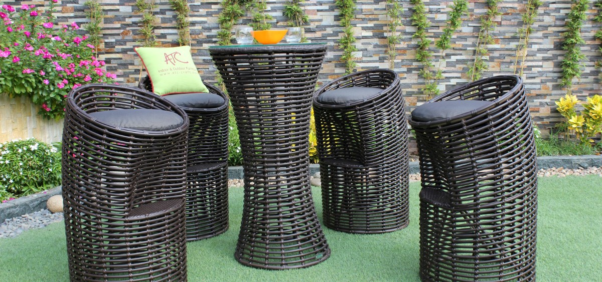 eagle outdoor furniture poly wicker bar set