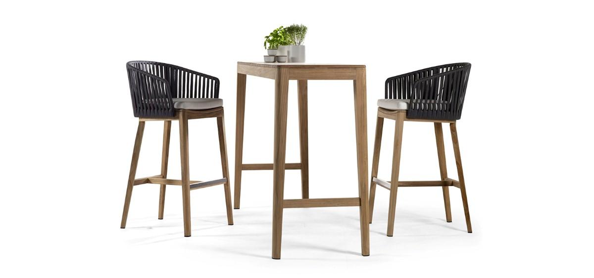 flores patio furniture wooden bar set