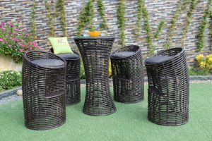 Poly rattan bar set RABR-111