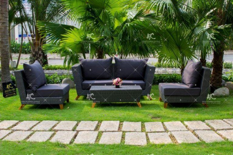 Rattan sofa for garden RASF-141