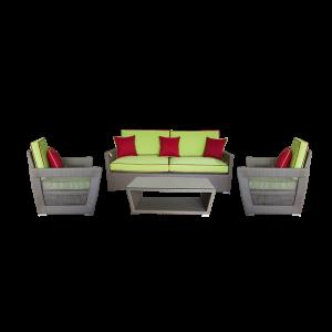 Bộ sofa ngoài trời với thiết kế bắt mắt và đệm ngồi sâu