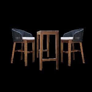 Bộ bàn ghế ăn sân vườn gỗ teak