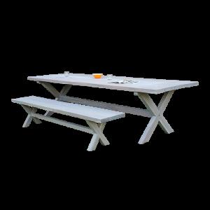 Bộ bàn ghế ăn ngoài trời bằng gỗ
