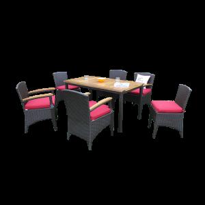 Bộ bàn ghế ăn sân vườn mây nhựa