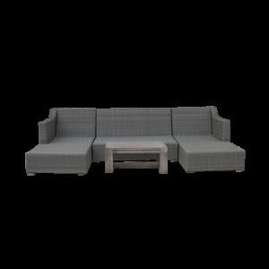Bộ sofa ngoài trời không gối đệm
