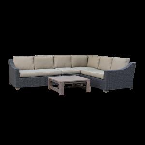 Bộ sofa ngoài trời với bàn gỗ tràm