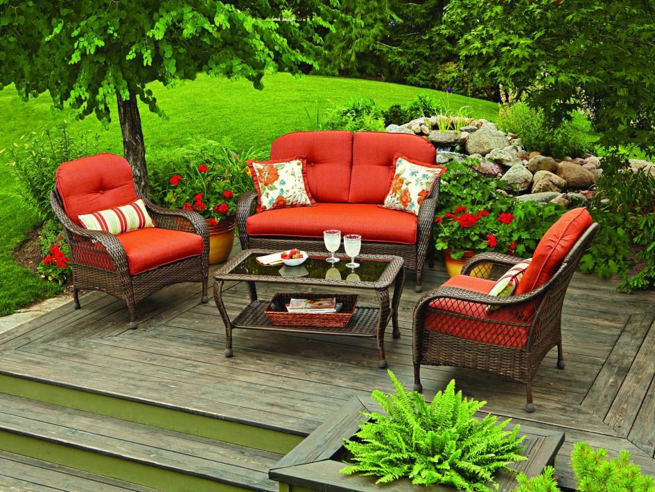 Bộ bàn ghế sofa ngoài trời đầy màu sắc tô điểm cho không gian của bạn