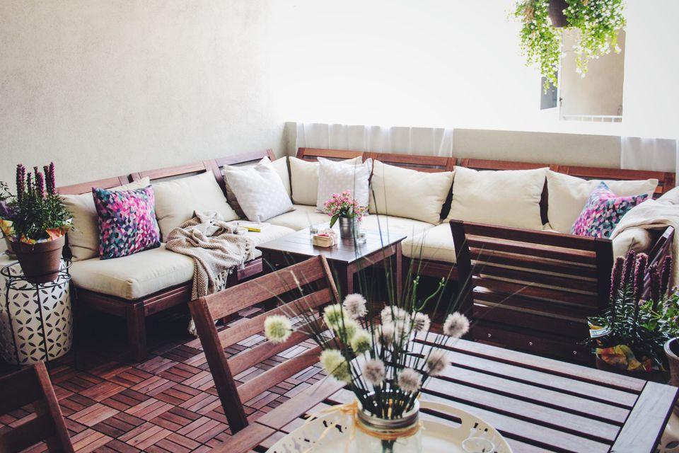 Bộ sofa với phần đệm êm ái