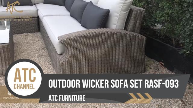 Bộ sofa mây nhựa sân vườn RASF-093 | 2018