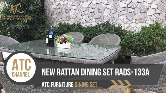 Bộ bàn ghế ăn nhựa giả mây RADS-133A | 2018