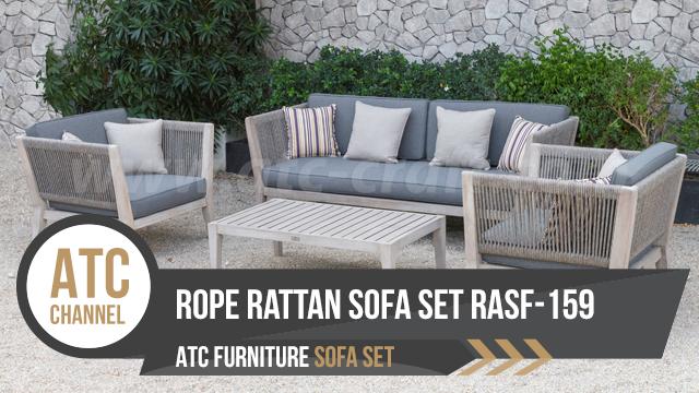 Bộ bàn ghế sofa dây đan ngoài trời RASF-159-2018