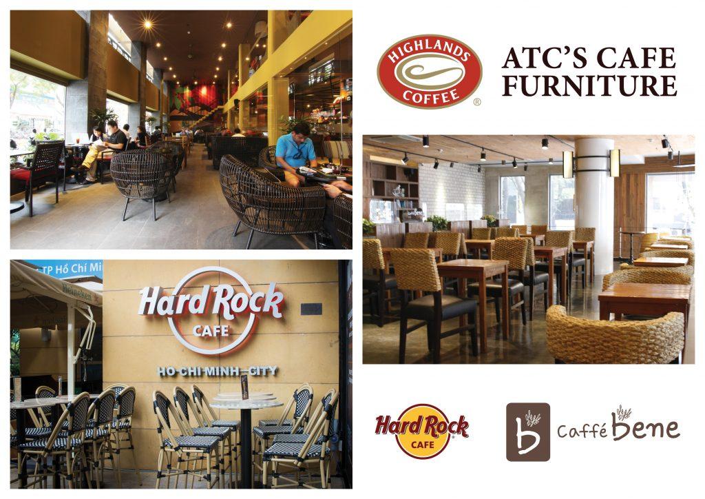 Bàn ghế nội thất quán cafe từ nhà sản xuất nội thất ATC Furniture Vietnam