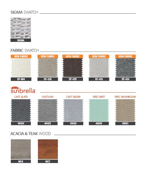 Bảng dây đan vật liệu SIGMA có gỗ 2018 từ nội thất ATC Furniture Vietnam