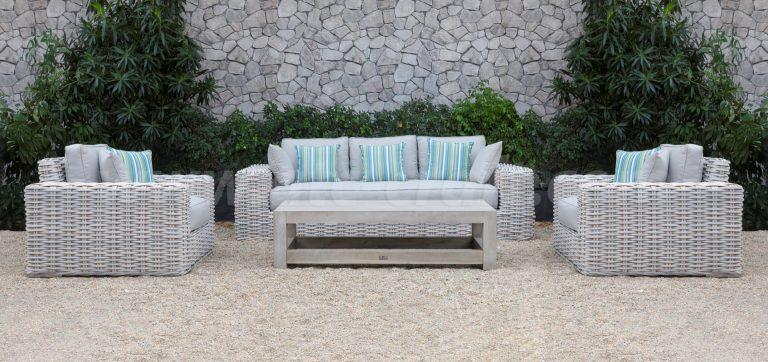 Bộ Sofa Mây Nhựa Ngoài Trời với bàn gỗ SIGMA 2018 RASF-178 Style 1 3