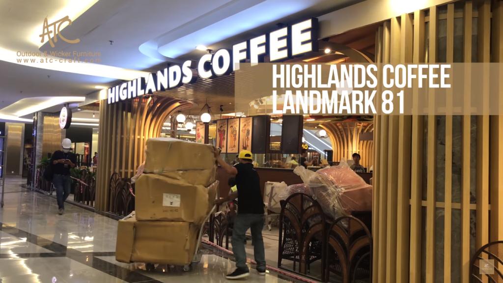 Highlands Coffee đã chọn nhà sản xuất nội thất mây nhựa hàng đầu Việt Nam cho cửa hàng của họ