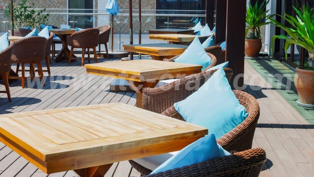 Các sản phẩm nội thất cho khu vực ngoài trời đều được làm từ các vật liệu thời tiết từ ATC furniture