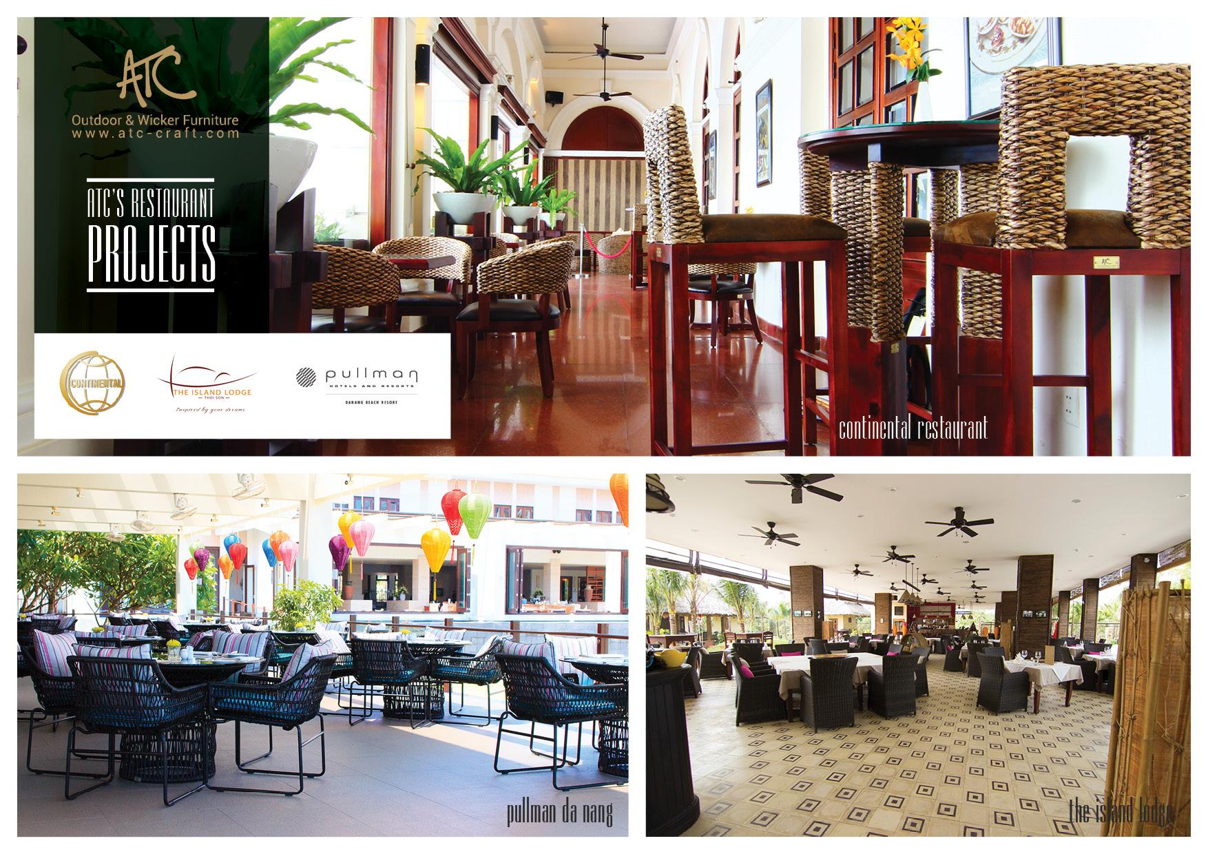 ATC Furniture, nơi cung cấp ngoại thất, thội thất nhà hàng, quán ăn chất lượng, uy tín