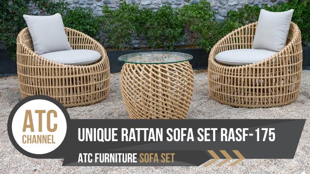 Bộ bàn ghế cafe mây nhựa, sofa tiết kiệm không gian từ ATC Furniture
