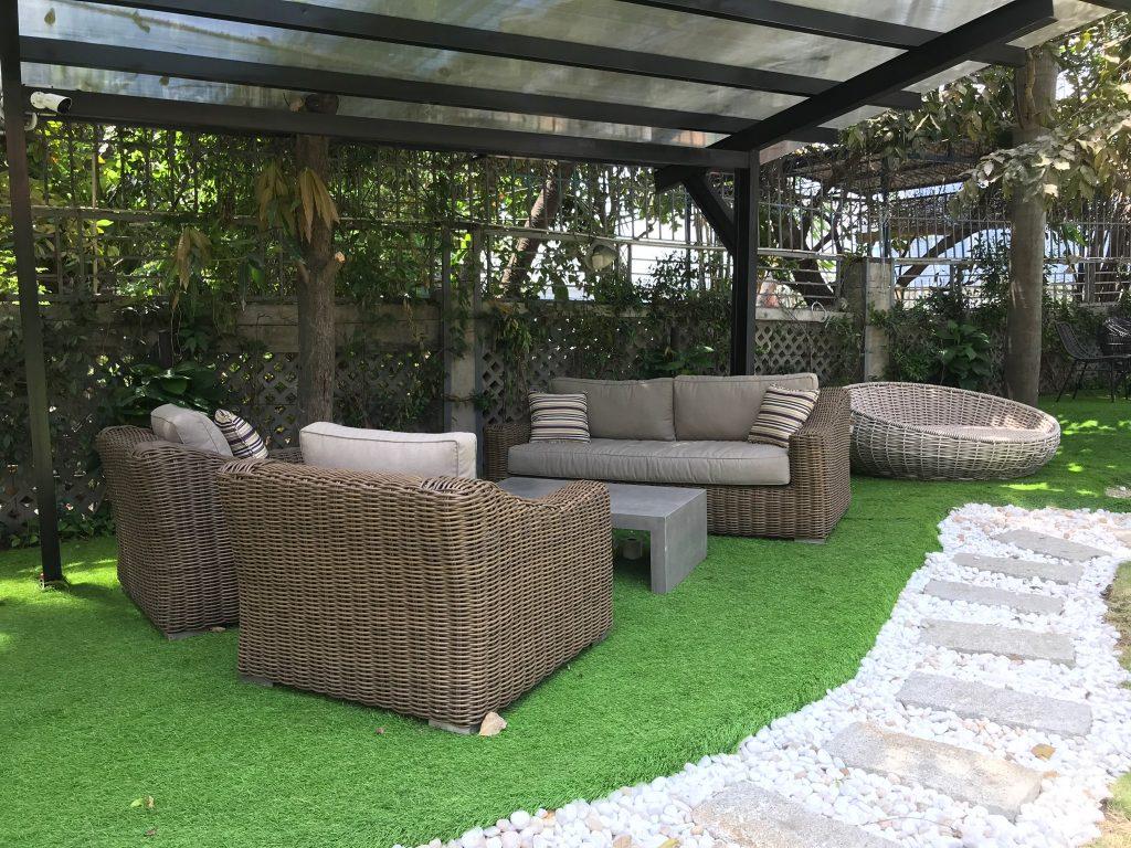 Bộ sofa sân vườn nhựa giả mây từ nhà sản xuất nội thất mây nhựa ATC Furniture