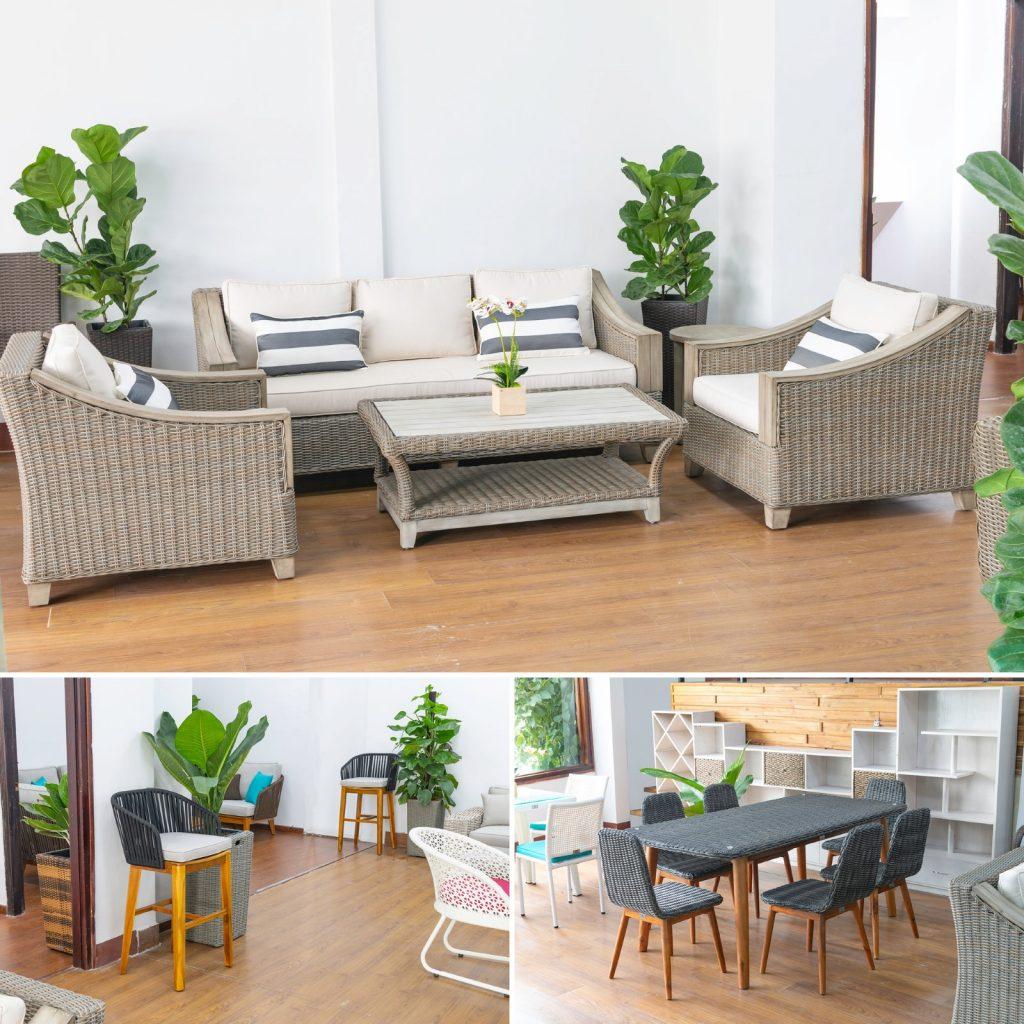 Làm mới ngôi nhà của bạn với bàn ghế nội thất mây nhựa