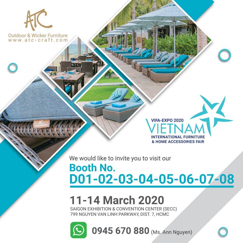 ATC Furniture tham gia hội chợ triển lãm nội thất xuất khẩu Vifa Expo 2020