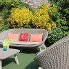 Bộ bàn ghế sofa sân vườn dây thừng đan chân gỗ RASF-194