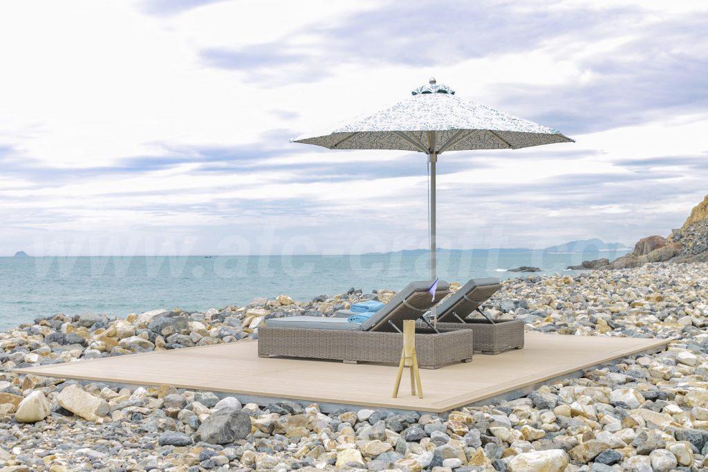 Giường tắm nắng bãi biển cho resort du lịch duyên hải