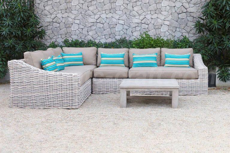 Bộ Sofa góc chữ L hiện đại cho sân vườn