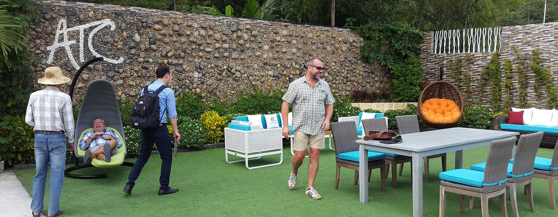 ATC Patio Furniture Manufacturer Customers Visiting